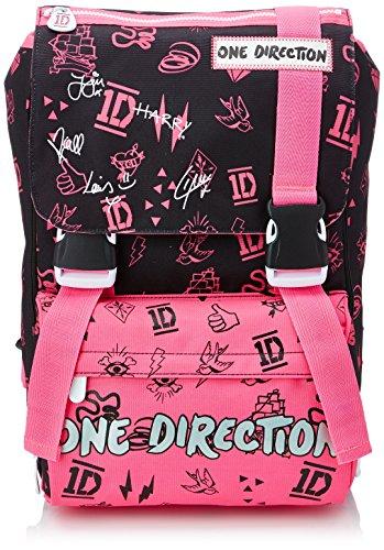 One Direction - Zaino Scuola Sdoppiabile, Big, Estensibile Elementari e Medie, 28 Litri, Rosa/Nero