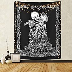 human skeleton tapestry