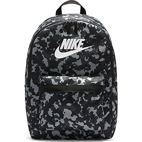 Nike Heritage Camo - Mochila, color negro y blanco