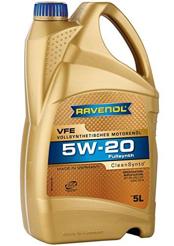 RAVENOL J1A1505-005 VFE 5W-20 Aceite de motor totalmente sintético API SN, ILSAC GF-5 (5 litros)