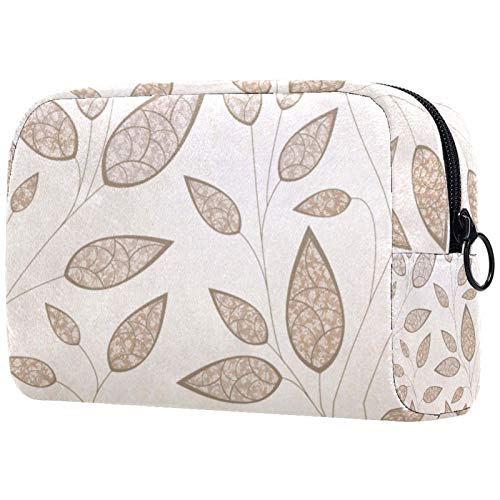Neceser de viaje, neceser portátil, bolsa de maquillaje para mujer, bolsa de cosméticos de gran capacidad, perfecta para viajes/uso diario hojas