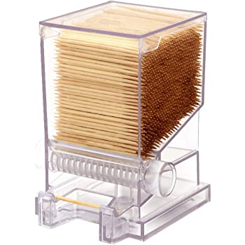 Serve Clean Toothpick Dispenser Clear- Restaurant-Style (Includes 100 Toothpicks)