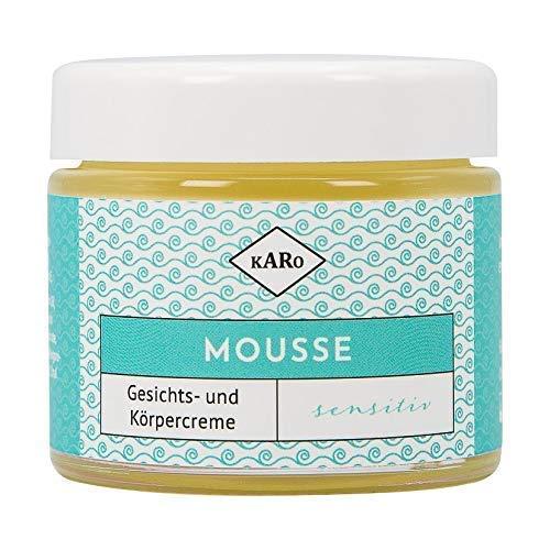 Mousse sensitiv mit Sheabutter, Jojoba- und Nachtkerzenöl; Gesichts- und Körperpflege für empfindliche Haut; Naturkosmetik; vegan; 100 ml, Glastiegel