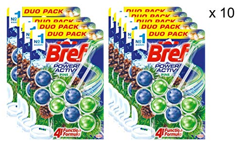 [Pack de 10] BREF Colgador WC Power Active Natura Blister 2 uds