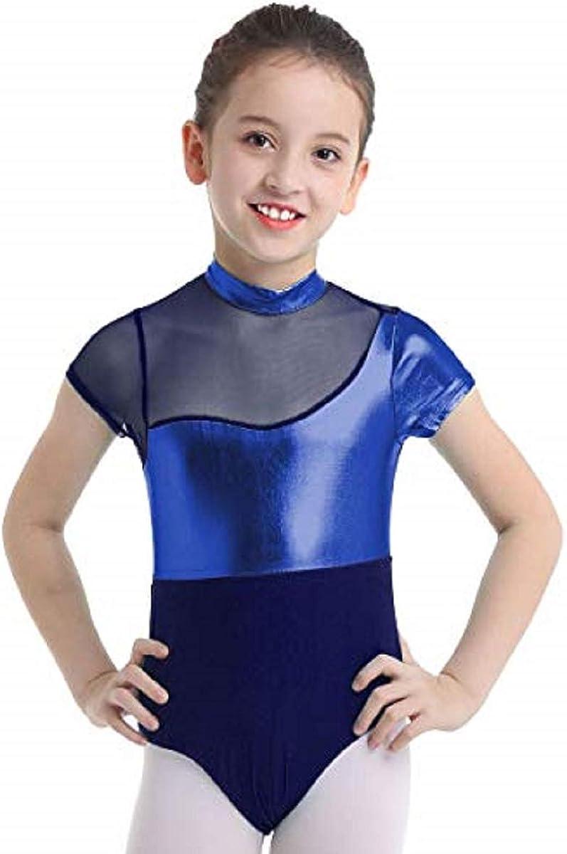 iiniim Girls Shiny Gymnastic Leotard Sleeveless One Pieces Bodysuit Sportswear Dance Costumes