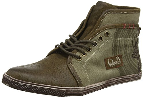 Spieth & Wensky Herren 545 H Jokel Hohe Sneaker, Beige (H, Oliv/Rustik 5071), 41 EU