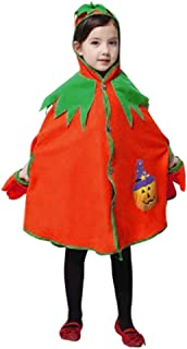 Halloween Cloak Costumes Toddlers Cosplay Role Play Pumpkin Hooded Cape Robe Boys Girls Cloak Coat