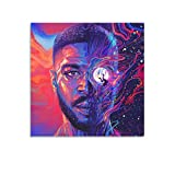 zhangke Kid Cudi Completes The Trilogy with Man On The Moon III The Chosen Pu Canvas Art Poster and Wall Art Picture Print Modern Family Bedroom Decor Posters 12x12inch(30x30cm)