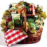 Gift Basket Village Viva o - Deluxe Gift Basket with Pastas, Linguini, Sauce, Oil, Bread Sticks and More, 6 lbs, Italian, 1 Count (Grocery)