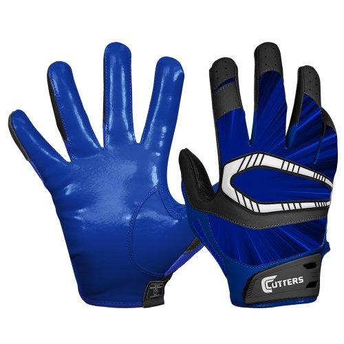 Cutters Gloves REV Pro Receiver Glove (Pair), Solid Navy, Medium