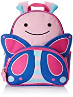 Signature Skip Hop Zoo characters Crafted details and fun matching zipper-pulls Padded, adjustable comfy straps Roomy bottle pocket Write-on nametag inside, Easy-to-clean lining