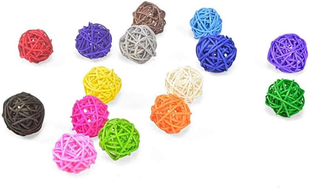 20 Pieces 3cm Wicker Rattan Rainbow Color Decorative Max 80% OFF Orbs Balls overseas