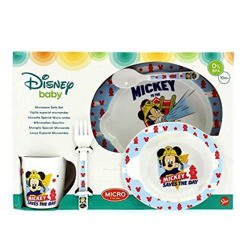 Stor Set Micro bébé 5 pièces (Assiette, Bol, Tasse et Couverts) Mickey Mouse to The Rescue