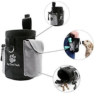 URIJK Pet snack bag Reward Based Training Bag Dog Treat Pouch Dog Training Sachet with Poop Waste Bag Dispenser Adjustable Pocket URIJK Mouth Rope Waist Clip Design