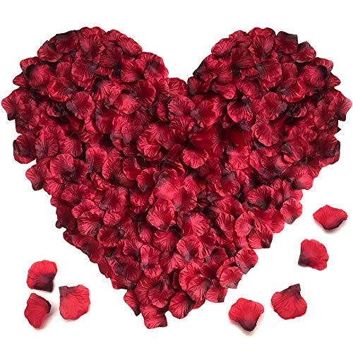 XCOZU Rosenblätter Kunstblumen, 3000 Stück Rot Rosen Blütenblätter Rosenblüten Künstlich Seide Streublumen Konfetti, Romantische Deko für Hochzeit, Party, Bad, Geburtstag, Valentinstag