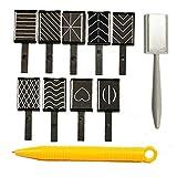 XKJFZ 11PCS Set Imán/Placa Varita Set Nail Art Decoración de manicura pedicura Buffer Herramienta para 3D Magnetic Nail Polish Gato Accesorios Polaco Efecto de la Belleza