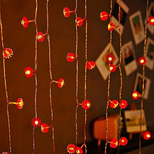 yqs Luces de hadas guirnalda luces luz cálida estrella redonda linterna LED cadena niños decoración hogar fiesta fiesta Navidad decoración hogar 3m20Lights Lattern