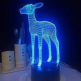 Helle Lampe nettes Kitz buntes Nachtlicht für holografische Lampe des innovativen Neujahrsgeschenks der Hochzeitsdekoration