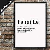 Definition: Familie | DIN A3 | Premium Spruch-Poster für