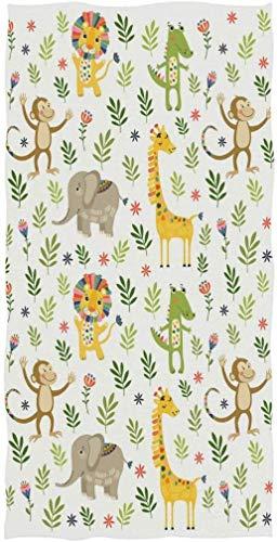 Toallas de Mano para baño, Hotel, Gimnasio y SPA con diseño de Mono y cocodrilo de Animales de la Jungla, Jirafa, Mono y cocodrilo para niños