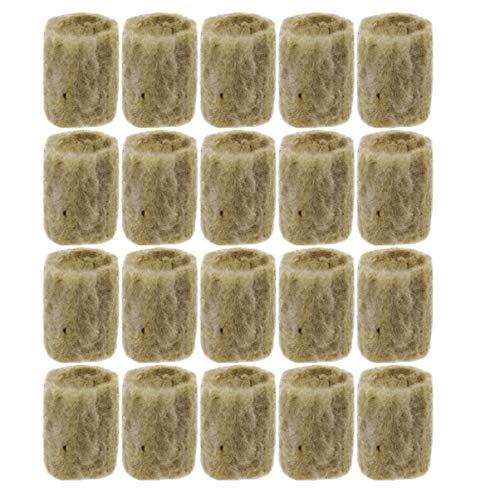 YARNOW 20 Stück Steinwolle Stopfen 2X2x3cm Starter Soilless Kultur Landwirtschaftliche Hydroponik für Den Anbau von Sämlingen Pflanzstopfen Wachsen Röhren