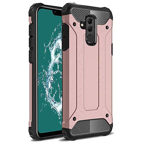 TenYll Huawei Mate 20 Lite Funda, protección contra Golpes de TPU+PC Resistente a arañazos(Doble Capa),para Huawei Mate 20 Lite Funda -Oro Rosa