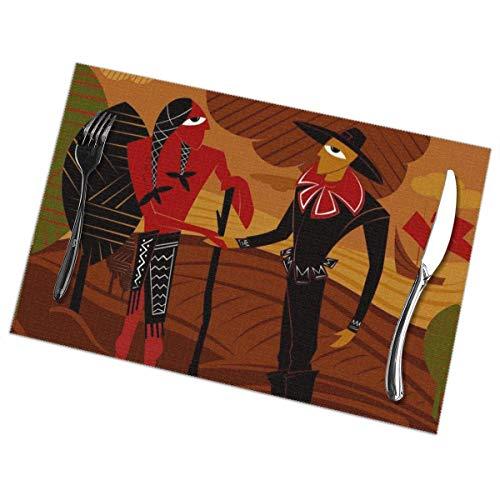 NCH UWDF Set de 6 Sets de Table Harmony Thanksgiving Day Automne pour décor de Salle à Manger Napperons résistants à la Chaleur, Nappe Lavable antidérapante 12x18 Pouces