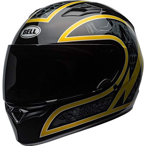 Bell Helmets Qualifier, Casco da Motociclismo Uomo, Nero/Oro Fiocco, XS
