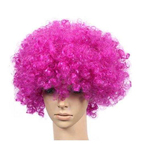 Lot de 2 Halloween Costume Party Clown Perruques cheveux, Violet Foncé