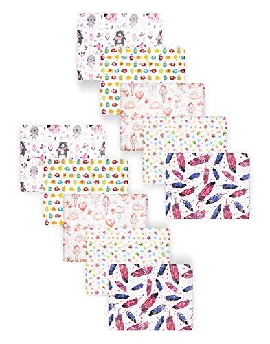 Be Mammy Baby Windelsets Stoffwindeln Mulltücher 70x80 cm 10er Pack BESD003 (Mädchen1 (10 Pack), 70x80)