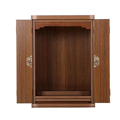 """18.1"""" Wand-buddhistischen Schreine Haushaltsklein buddhistische Schränke mit Türen, Geeignet for Place Your Spiritual Dekoration"""