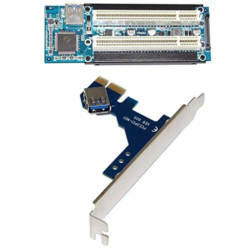 PCI-E Express X1 USB拡張カード 3.0ケーブル付き デュアル PCI ライザー エクステンダ カード アダプタ インターフェースカード