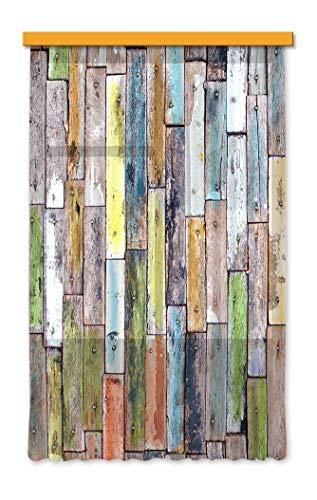 Gardine/Vorhang FCS L 7508, Holz, 140 x 245 cm, 1 teil
