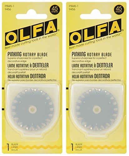 Olfa Rotary Blade Refill 45mm Pinking PIB45-1 (2-Pack)