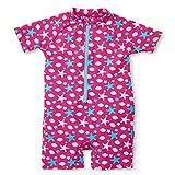 Sterntaler Baby-Mädchen Schwimmanzug Sealife Badeanzug, Magenta, 80