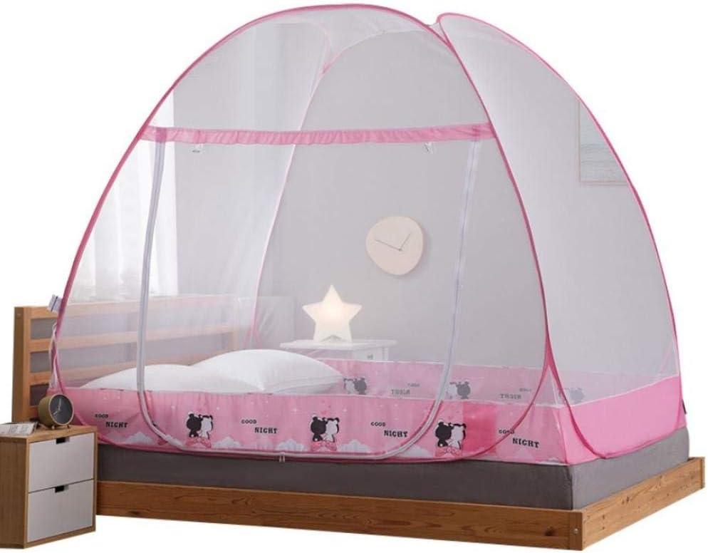 WEMUR Mosquitera Mosquitera Net One Puerta Portátil con Dosel Insecto Cama Plegable automática Bunk Transpirable Netting Tienda-1.8m (6 pies) Cama Mosquitero (Size : 1.5m (5 Feet) Bed)