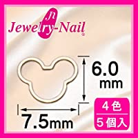 [フレーム]ネイルパーツ Nail Parts フレームベア(M) シルバー 日本製 made in japan