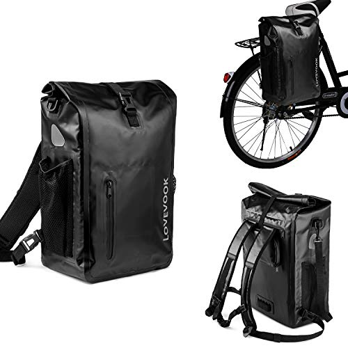 LOVEVOOK Bike Bag Pannier for Bicycle Waterproof Bicycle Panniers Rear Rack Trunks Bags for Bicycling Riding Traveling(Shoulder Bag Laptop Backpack Panniers for Bicycle Accessories 3 in 1)