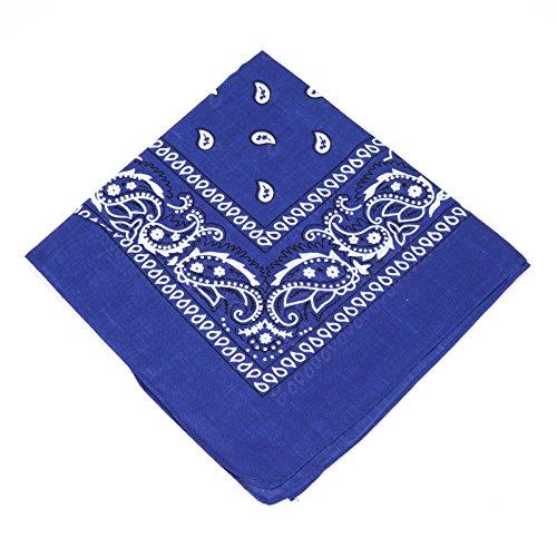 Boolavard 100% Baumwolle, Paisley Bandana Bandana Headwear/Haar-Band-Schal-Ansatz-Handgelenk-Verpackungs-Band-Kopf-Bindung (Schwarz, Rot, Blau, Weiß, etc.) 60+ Stile (37# Marineblau)