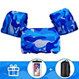 AmazeFan Kids Swim Life Jacket Vest for Swimming Pool, Swim Aid Floats with Waterproof Phone Pouch and Storage Bag,Suitable for 30-50 lbs Infant/Baby/Toddler,Children Puddle/Sea Beach Jumper