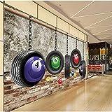 Equipo para el hogar Grandes Modernos Neumáticos Minimalistas Abstractos Novedosos Colgantes y Bolas de Colores Imágenes 5D Impresión Tela de Seda Tela Arte de la Pared Decoración para Sala de esta