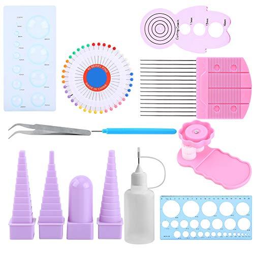 Quilling-Kits für Anfänger, 11-in-1 Papier-Rüschenwerkzeug-Zubehör, Bastelzubehör, Quilling, Kunst, Crimpzange, Lineal, Stifte, Border Buddy Set