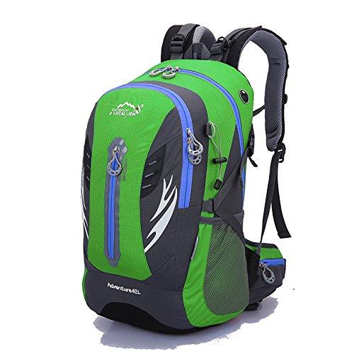 Randonnée plein air sac à dos randonnée vélo camping Sac épaule sacs pour les hommes et les femmes 42l , green
