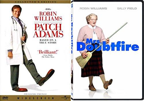 Mrs. Doubtfire & Robin Williams Set [DVD] 2 Pack Patch Adams Double Feature Movie Set