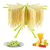 GOZIHA Pasta Drying Rack Noodle Stand with 10 Bar Handles Collapsible   Household Noodle Dryer Rack...