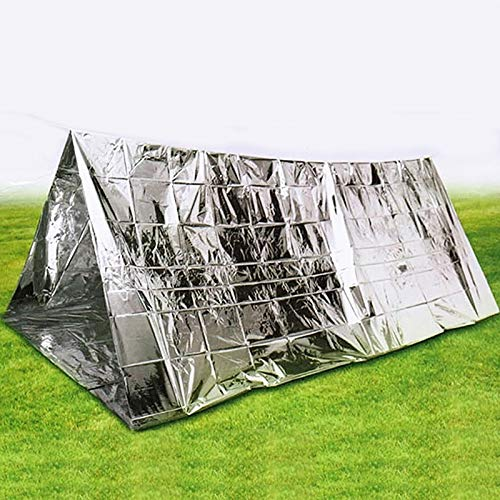 DMXYY-Camping - Outdoor Solutions Survival Emergency 2 People Shelter Tent(Silver)