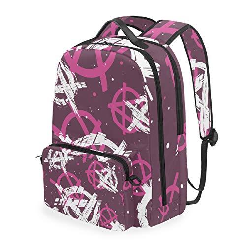 Pink Boat - Mochila de hombro con diseño de mensajero para computadora portátil, para estudiantes, para niños y niñas