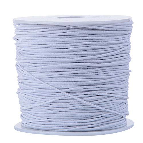 Elastische Schnur für Schmuckherstellung, Perlenschmuck, Armbänder, weiß, 1.2mm x 50Meters