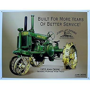1933 John Deere General Purpose Wide Tread Country Tractor Metal Sign