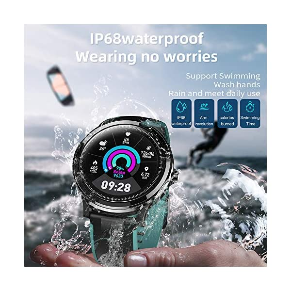 Smartwatch,Reloj Inteligente con Pulsómetro,Calorías,Cronómetros,Monitor de Sueño,Podómetro Pulsera Actividad… 5